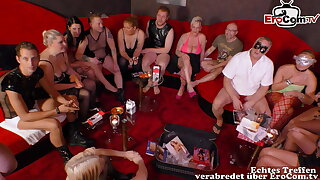 real german swinger party with young couple