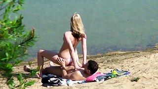 Real Teen Couple on German Beach Voyeur Fuck by Stranger