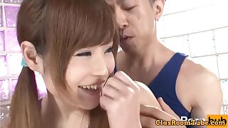 Skinny Japanese teen hardcore sex video