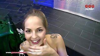 Super Cute Bibi gets her Mouth filled with Cum – German Goo Girls