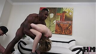 Teen in braces loves big black cock sex